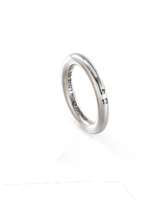 Steel color (size 7) Titanium Steel Round Minimalist Band Ring