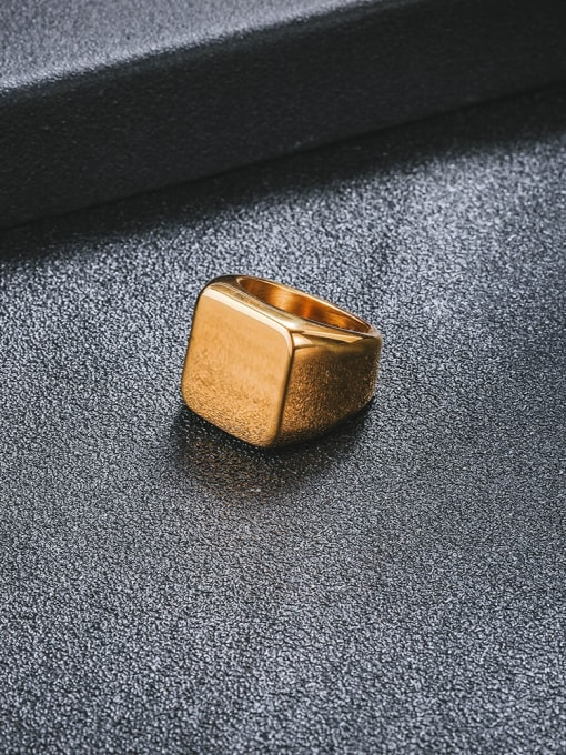 WOLF Titanium Steel Geometric Minimalist Band Ring 1