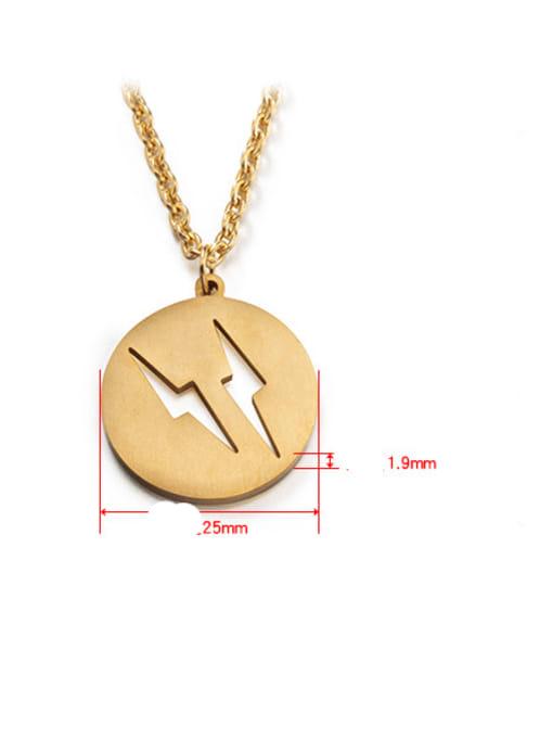 WOLF Titanium Steel Round Hip Hop Necklace 3