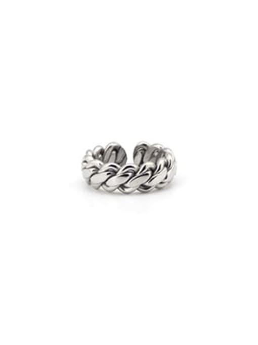 Steel color (size 8) Titanium Steel Geometric Minimalist Band Ring