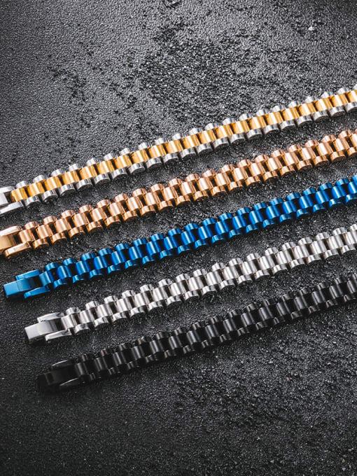 WOLF Titanium Steel Geometric Minimalist Link Bracelet 1