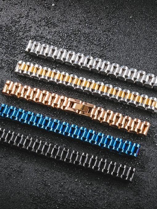 WOLF Titanium Steel Geometric Minimalist Link Bracelet 2