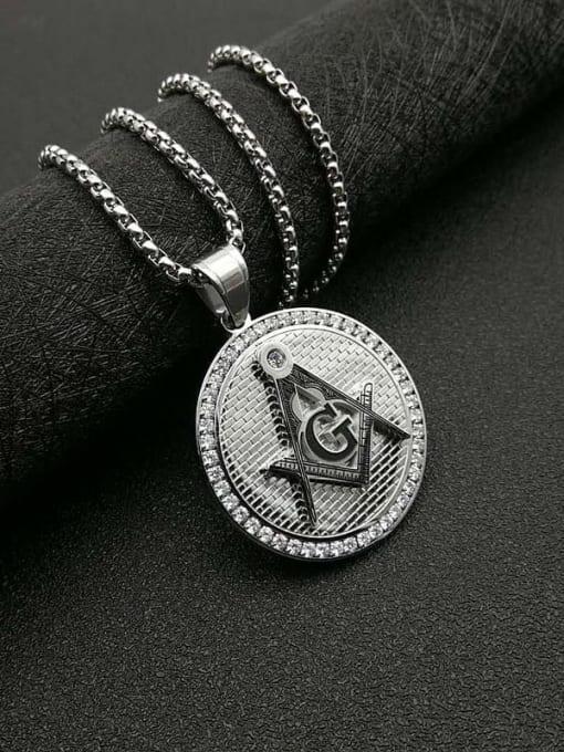 Steel color +Chain  3mm *61cm Titanium Steel Religious Vintage Necklace