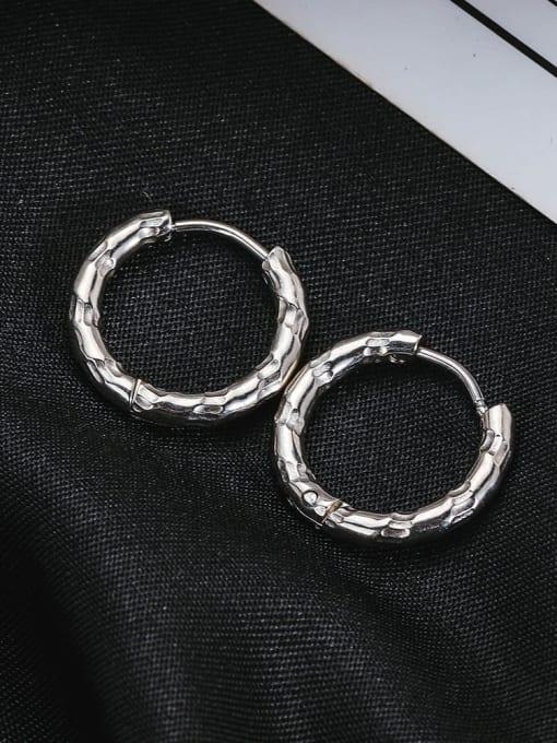 WOLF Titanium Steel Geometric Hip Hop Single Earring (Single) 2