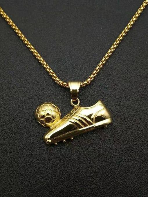 HI HOP Titanium Steel Irregular Hip Hop Football Sneaker Pendant Necklace