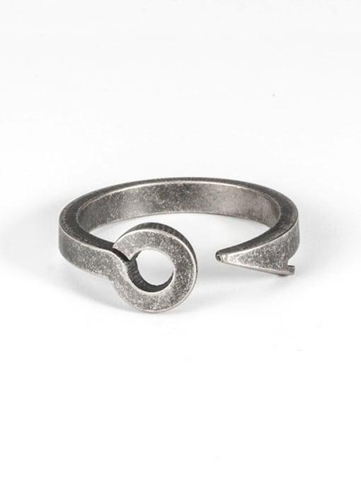 Ancient Titanium Steel Irregular Hip Hop Band Ring