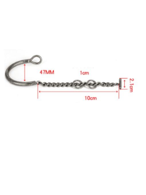 WOLF Titanium Steel Irregular Vintage Link Bracelet 4