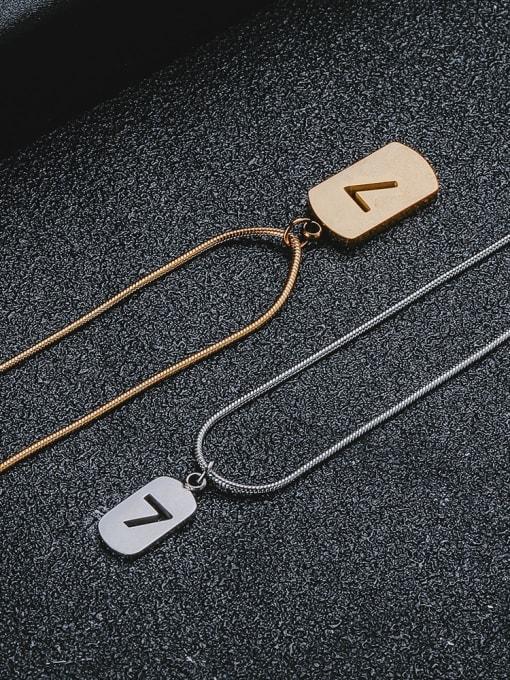 WOLF Titanium Steel Geometric Minimalist Necklace 0