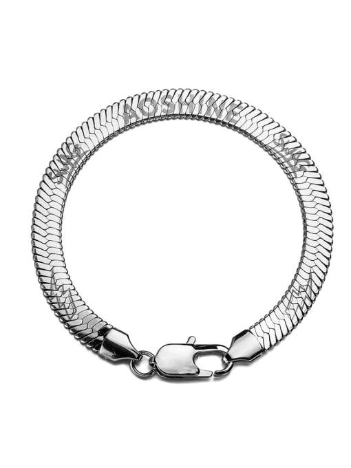 18cm (steel color) Titanium Steel Snake bone chain Vintage Link Bracelet