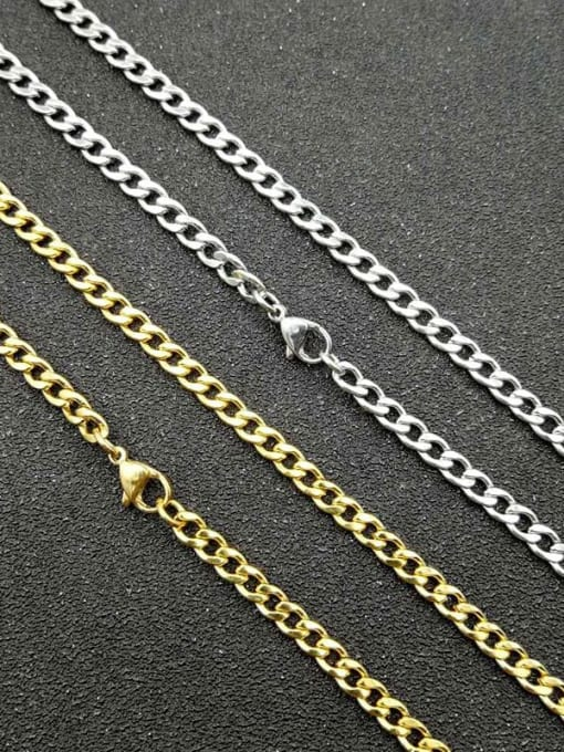 HI HOP Titanium Steel Geometric Hip Hop Cable Chain 1