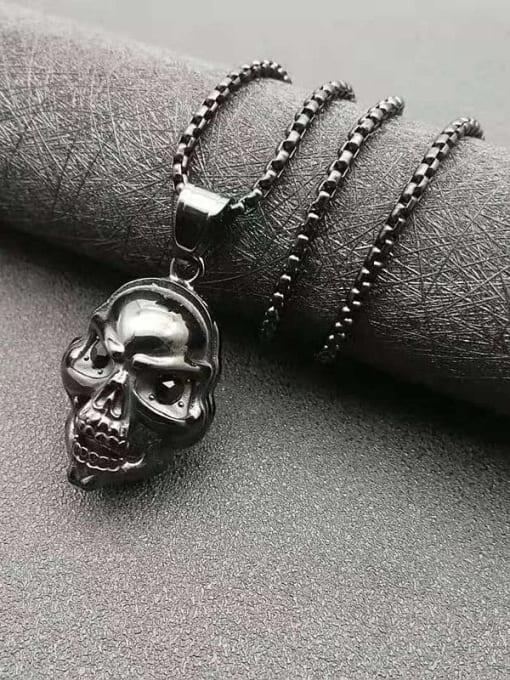 HI HOP Titanium Steel Skull Hip Hop Necklace 2
