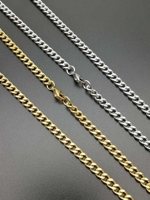 HI HOP Titanium Steel Hollow Geometric Hip Hop Cable Chain
