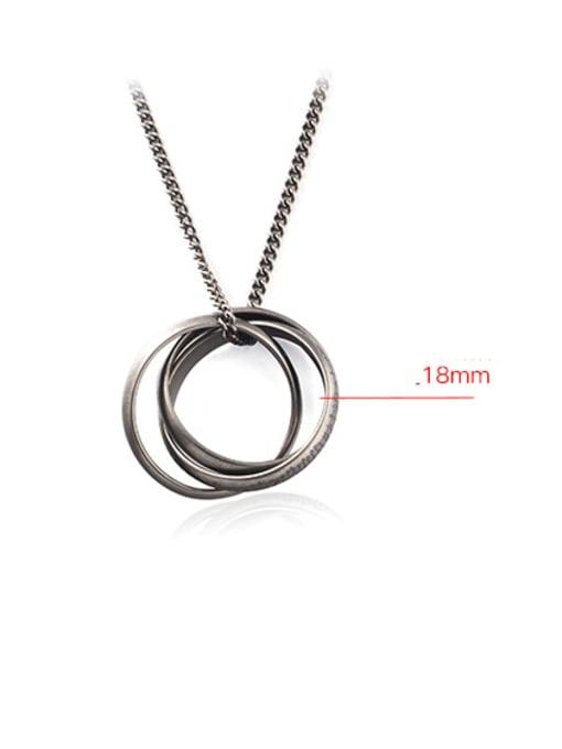 WOLF Titanium Steel Round Vintage Necklace 2