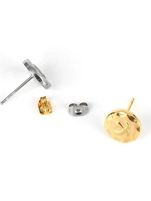 WOLF Titanium Steel Geometric Minimalist Stud Earring 0