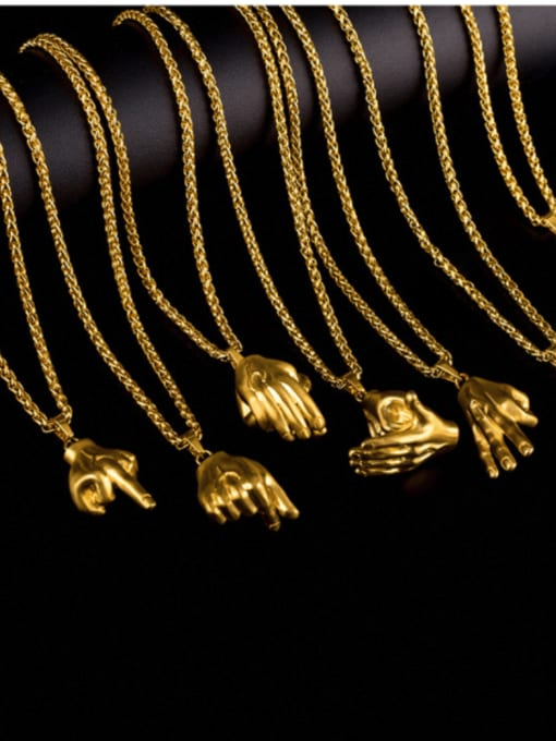 WOLF Titanium Steel Irregular Hip Hop Necklace