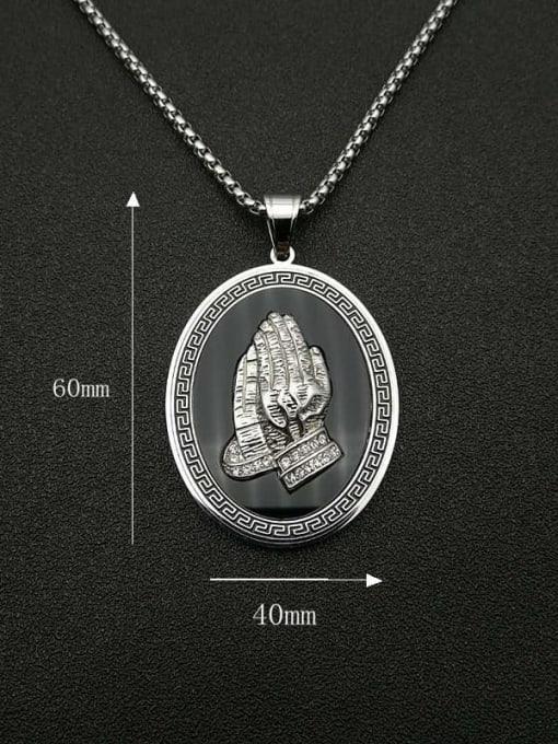 HI HOP Titanium Steel Religious Vintage Regligious Necklace 1