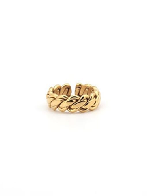Gold (size 6) Titanium Steel Geometric Minimalist Band Ring