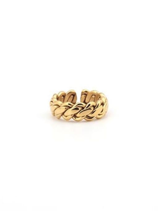 Gold (size 8) Titanium Steel Geometric Minimalist Band Ring