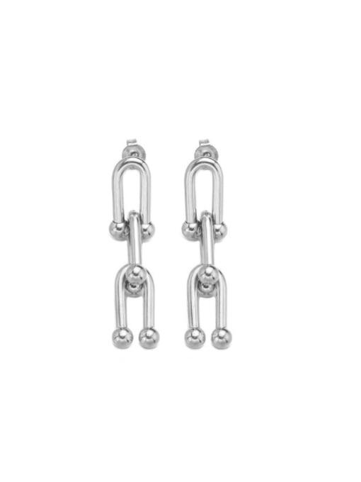 WOLF Titanium Steel Geometric Minimalist Chandelier Earring 2