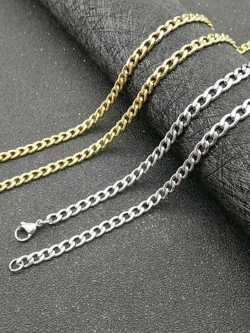 HI HOP Titanium Steel Geometric Hip Hop Cable Chain 0