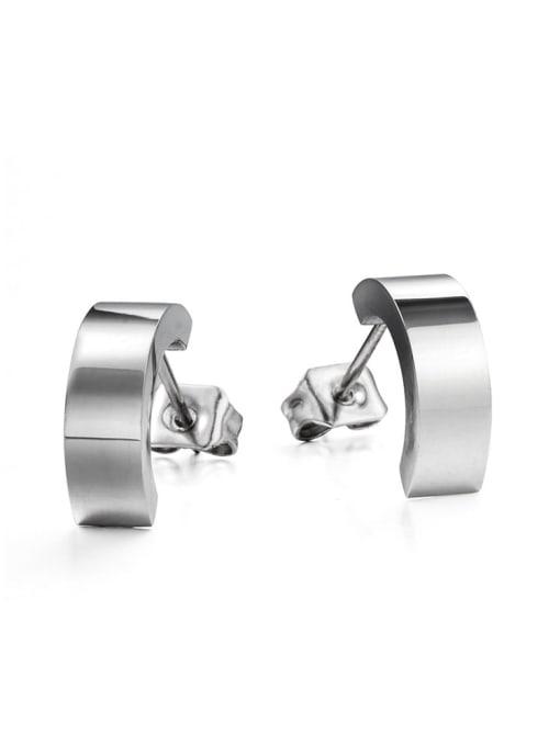 WOLF Titanium Steel Geometric Minimalist Stud Earring 3