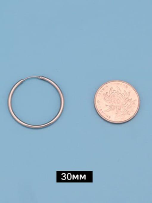 Outer diameter 30mm (one pair) Titanium Steel Round Minimalist Huggie Earring