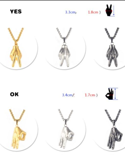 WOLF Titanium Steel Irregular Hip Hop Necklace 3