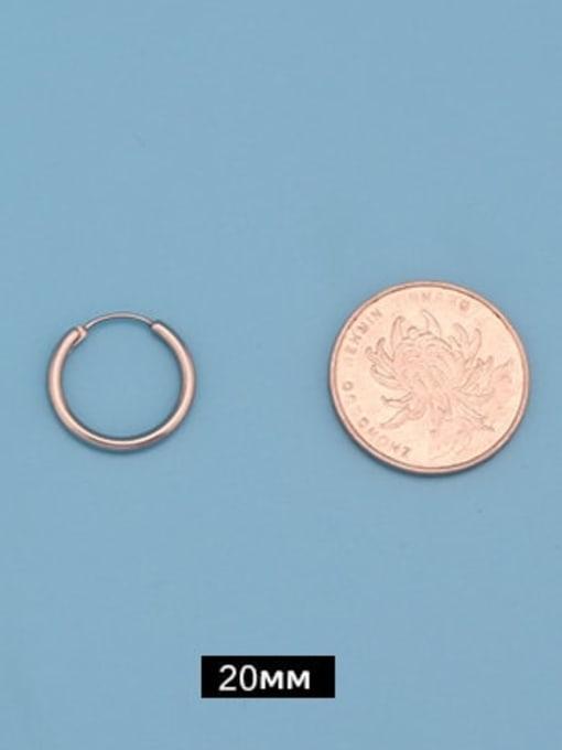 Outer diameter 20mm (one pair) Titanium Steel Round Minimalist Huggie Earring
