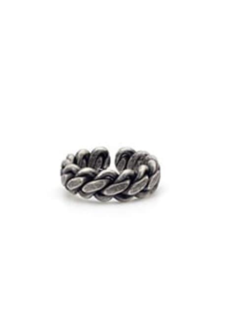 Antique  (size 8) Titanium Steel Geometric Minimalist Band Ring
