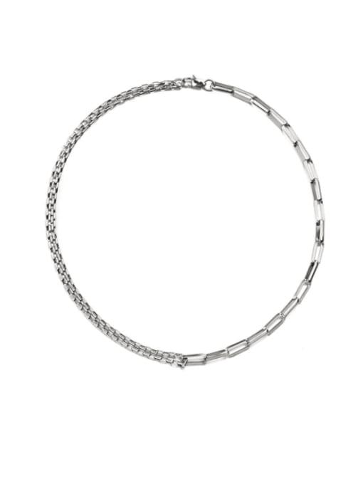 WOLF Titanium Steel Geometric Hip Hop Necklace