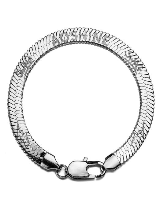 WOLF Titanium Steel Snake bone chain Vintage Link Bracelet 2