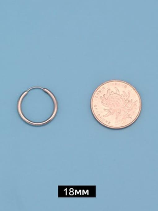 Outer diameter 18mm (one pair) Titanium Steel Round Minimalist Huggie Earring