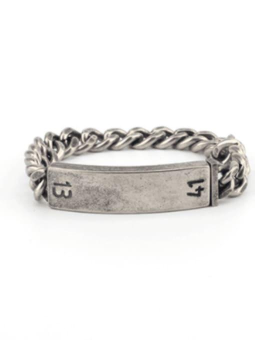 WOLF Titanium Steel Geometric Vintage Bracelet 1