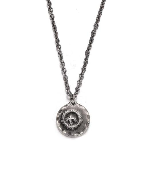 WOLF Titanium Steel Geometric Hip Hop Necklace 3