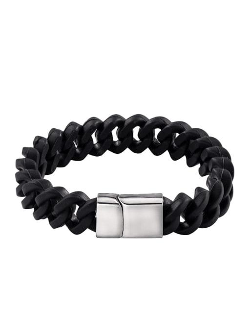 WOLF Titanium Steel Geometric Vintage Link Bracelet 1
