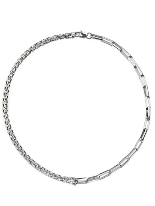 WOLF Titanium Steel Geometric Hip Hop Necklace 4