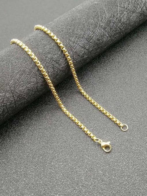 chain:2.5mm*61cm Titanium Steel Rhinestone Irregular Note Vintage Necklace