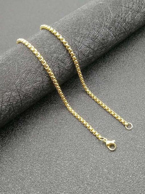 gold Chain:3mm*61cm Titanium Steel Enamel Cross Vintage Necklace