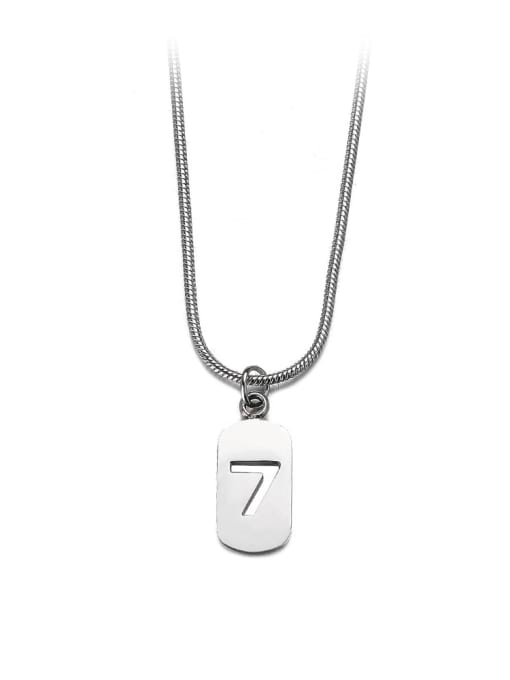 Steel color small Titanium Steel Geometric Minimalist Necklace