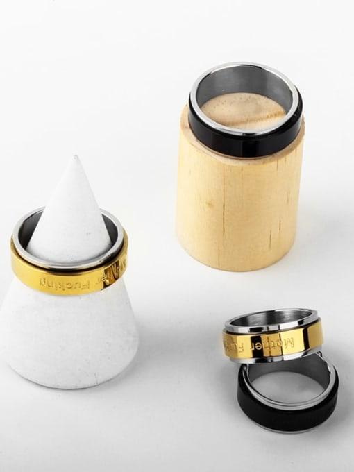WOLF Titanium Steel Round Minimalist Band Ring