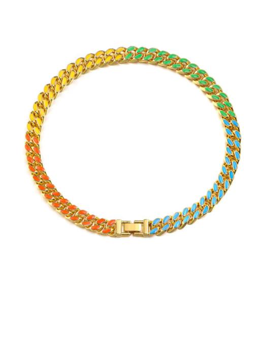 WOLF Alloy Resin Geometric Bohemia Necklace