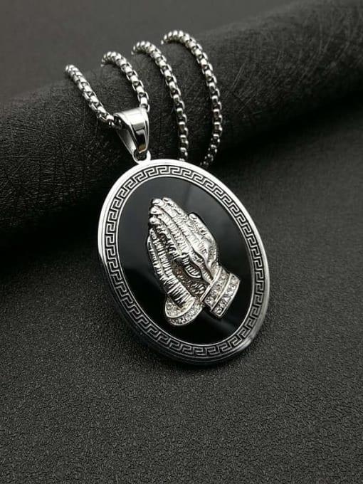 Steel color  Chain+3mm*61cm Titanium Steel Religious Vintage Regligious Necklace