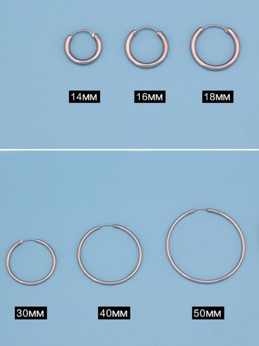 WOLF Titanium Steel Round Minimalist Huggie Earring 0