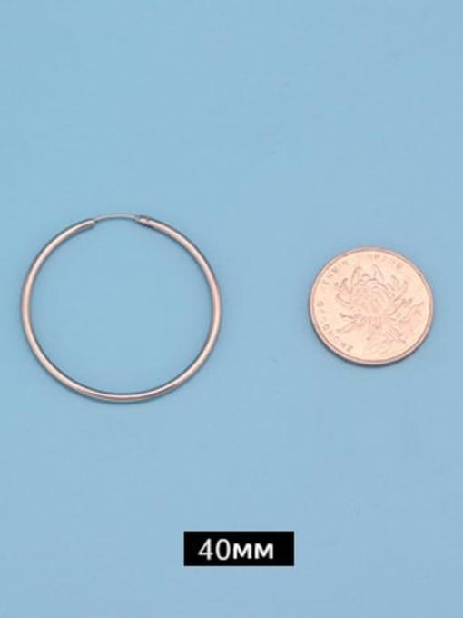 Outer diameter 40mm (one pair) Titanium Steel Round Minimalist Huggie Earring
