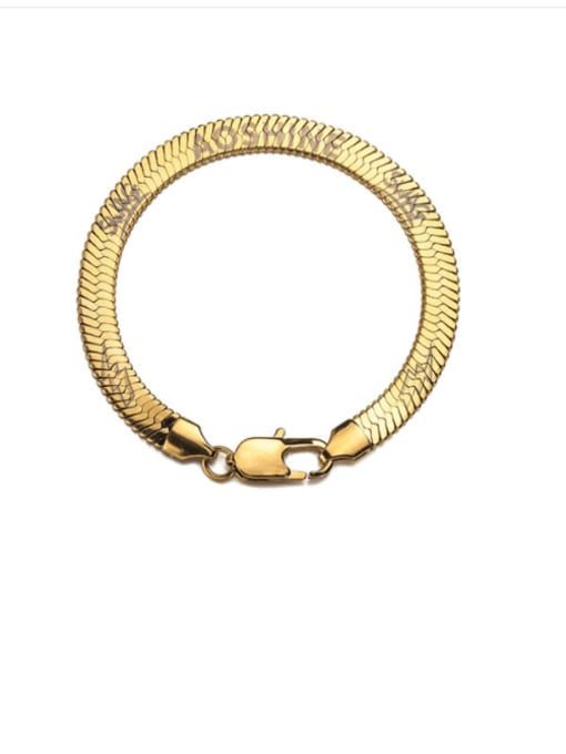 WOLF Titanium Steel Snake bone chain Vintage Link Bracelet 0
