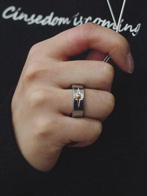 WOLF Titanium Steel Round Minimalist Band Ring 2