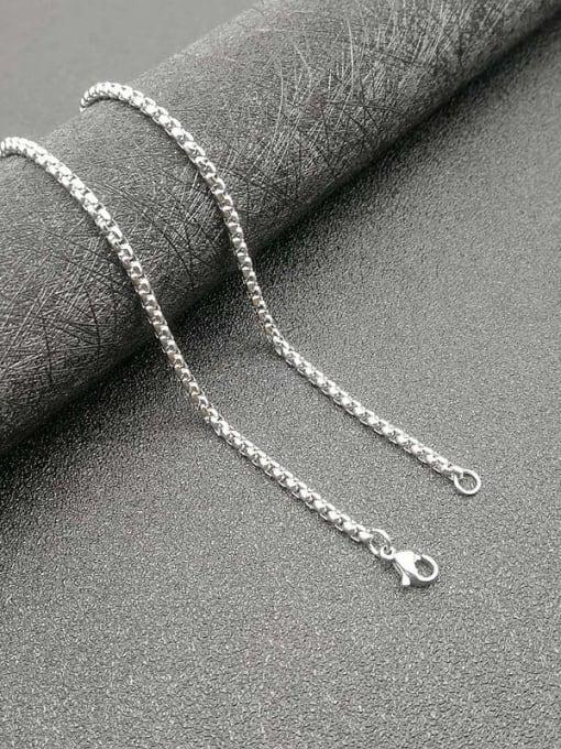 Steel color: 3mm*61cm Titanium Steel Enamel Cross Vintage Necklace