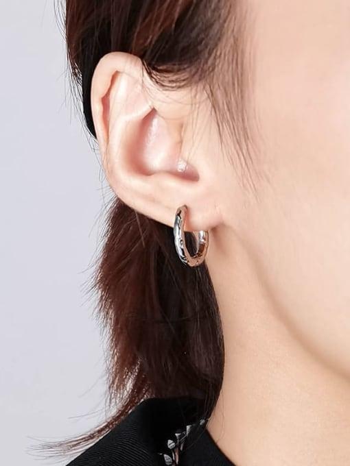 WOLF Titanium Steel Geometric Hip Hop Single Earring (Single) 1