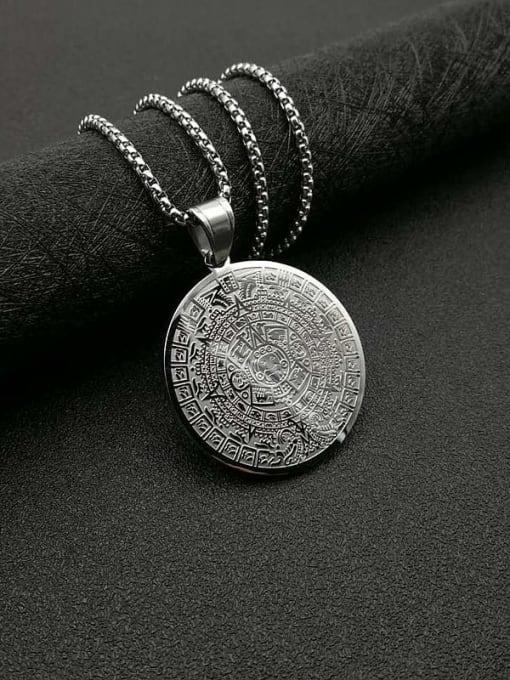 Steel color +Chain 3mm*61cm Titanium Steel Religious Vintage Necklace