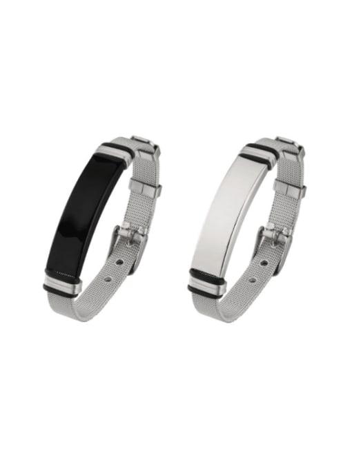 WOLF Titanium Steel Geometric Hip Hop Bracelet